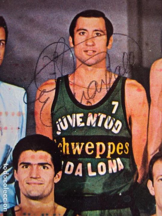 Coleccionismo deportivo: (F-190778)POSTER DEL JOVENTUT DE BADALONA AÑOS 70 AUTOGRAFOS ORIGINALES,BUSCATO,MARGALL,ETC. - Foto 3 - 171490455
