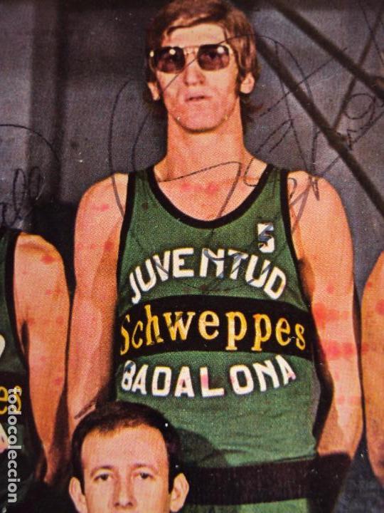 Coleccionismo deportivo: (F-190778)POSTER DEL JOVENTUT DE BADALONA AÑOS 70 AUTOGRAFOS ORIGINALES,BUSCATO,MARGALL,ETC. - Foto 4 - 171490455