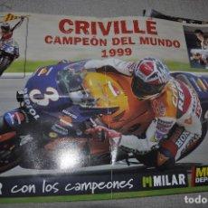 Coleccionismo deportivo: POSTER DE CRIVILLE CAMPEÓN DEL MUNDO 1999. 60X40. MUNDO DEPORTIVO. . Lote 172822785