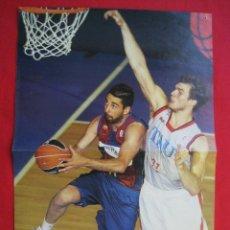 Coleccionismo deportivo: POSTER DOBLE - JUAN CARLOS NAVARRO / KOBE BRYANT - GIGANTES DEL BASKET.. Lote 173287415