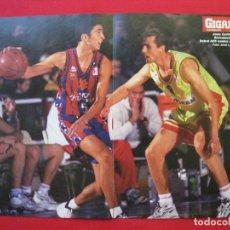 Coleccionismo deportivo: POSTER DOBLE - JUAN CARLOS NAVARRO - GIGANTES DEL BASKET.. Lote 173291522