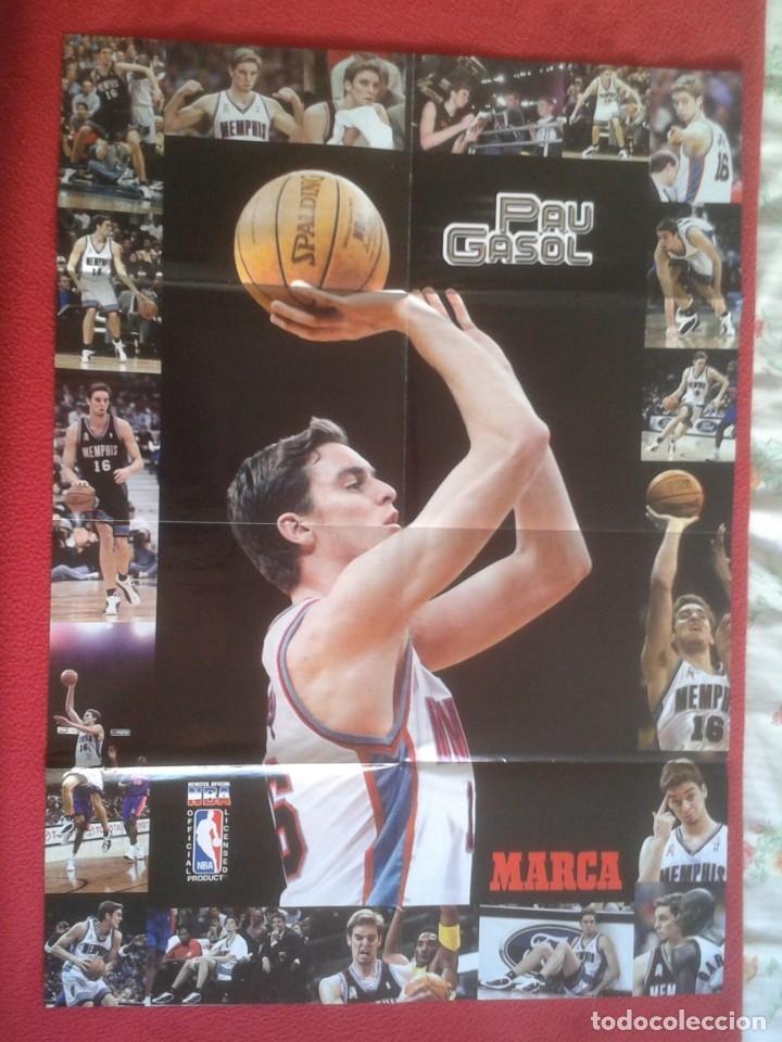 Coleccionismo deportivo: POSTER CARTEL DE BALONCESTO BASKETALL BASKET BALL PAU GASOL MICHAEL JORDAN Memphis Grizzlies NBA USA - Foto 5 - 175317444