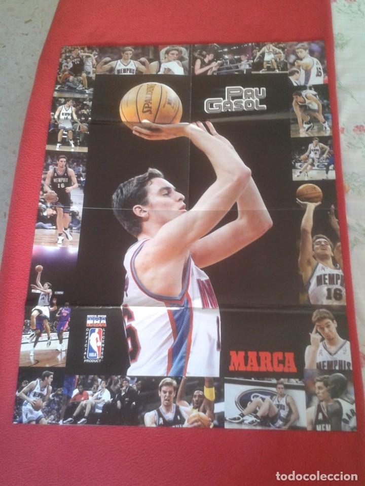 Coleccionismo deportivo: POSTER CARTEL DE BALONCESTO BASKETALL BASKET BALL PAU GASOL MICHAEL JORDAN Memphis Grizzlies NBA USA - Foto 6 - 175317444