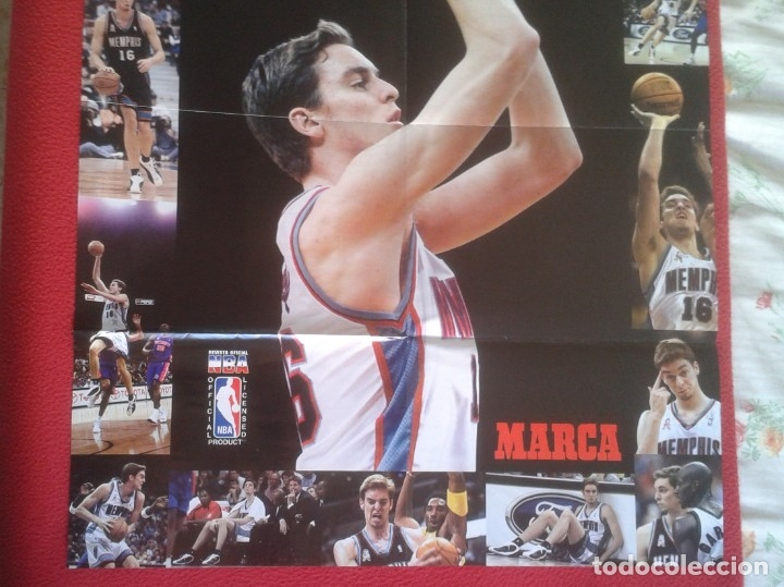 Coleccionismo deportivo: POSTER CARTEL DE BALONCESTO BASKETALL BASKET BALL PAU GASOL MICHAEL JORDAN Memphis Grizzlies NBA USA - Foto 8 - 175317444
