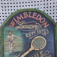 Coleccionismo deportivo: CARTEL DE MADERA DE WIMBLEDON. Lote 175584057