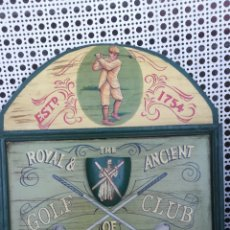 Coleccionismo deportivo: CARTEL DE MADERA, GOLF CLUB ST, ANDREWS. Lote 175586545