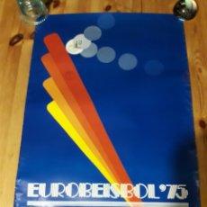 Coleccionismo deportivo: CARTEL EUROBEISBOL 75 BARCELONA CON SELLOS CAMPEONATO EUROPA BEISBOL 1975. Lote 175871807
