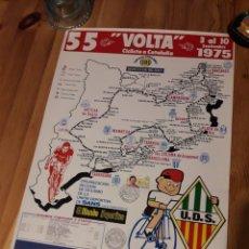 Coleccionismo deportivo: CARTEL 55 VOLTA CICLISTA CATALUNYA 1975 CON SELLO Y TAMPON. Lote 176002019