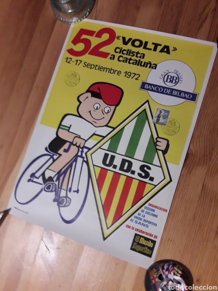 CARTEL 52 VOLTA CICLISTA CATALUNYA 1972 CON SELLO Y TAMPON ROMANOS (Coleccionismo Deportivo - Carteles otros Deportes)