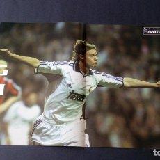 Coleccionismo deportivo: PÓSTER GUTI REAL MADRID CLUB DE FÚTBOL LIGA. Lote 176193474