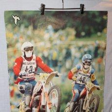 Coleccionismo deportivo: CARTEL DE MOTOCROS AÑOS 70. Lote 176839330