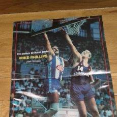 Coleccionismo deportivo: POSTER MIKE PHILIPS. JUVER ESPAÑOL. NUEVO BASKET. Lote 177230427