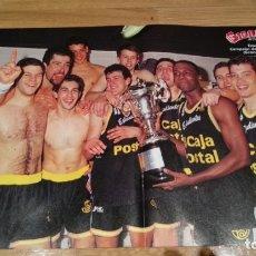 Coleccionismo deportivo: POSTER ESTUDIANTES CAMPEÓN COPA DEL REY DE GRANADA 1992. Lote 177231614