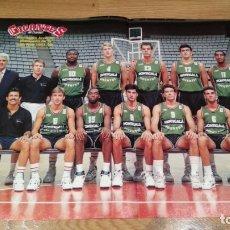 Coleccionismo deportivo: POSTER JOVENTUT DE BADALONA. CAMPEÓN LIGA 1991-1992. Lote 177231772