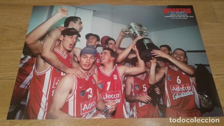 POSTER ADECCO ESTUDIANTES. CAMPEÓN COPA DEL REY 2000 (Coleccionismo Deportivo - Carteles otros Deportes)