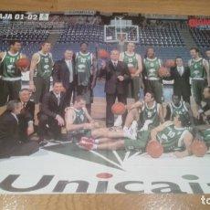 Coleccionismo deportivo: POSTER UNICAJA MALAGA. 2001-2002. Lote 177369080