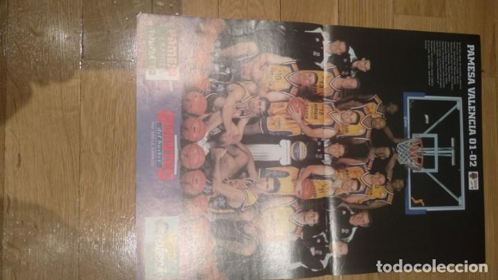 POSTER PAMESA VALENCIA 2001-2002 (Coleccionismo Deportivo - Carteles otros Deportes)