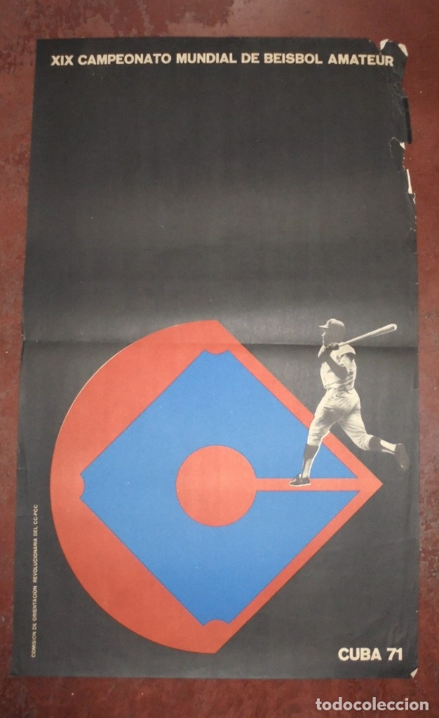 CARTEL. XIX CAMPEONATO MUNDIAL DE BEISBOL AMATEUR. CUBA 71. MEDIDAS: 70 X 46CM (Coleccionismo Deportivo - Carteles otros Deportes)
