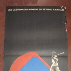Coleccionismo deportivo: CARTEL. XIX CAMPEONATO MUNDIAL DE BEISBOL AMATEUR. CUBA 71. MEDIDAS: 70 X 46CM. Lote 177372994