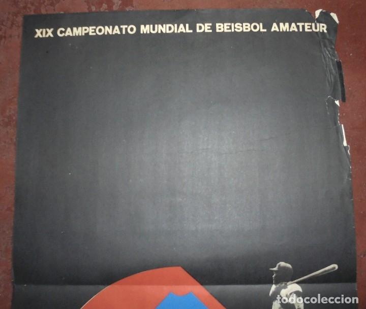 Coleccionismo deportivo: CARTEL. XIX CAMPEONATO MUNDIAL DE BEISBOL AMATEUR. CUBA 71. MEDIDAS: 70 X 46CM - Foto 2 - 177372994