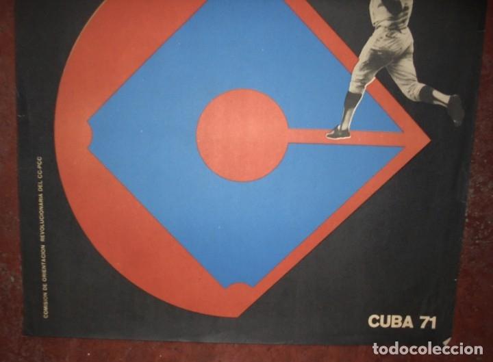 Coleccionismo deportivo: CARTEL. XIX CAMPEONATO MUNDIAL DE BEISBOL AMATEUR. CUBA 71. MEDIDAS: 70 X 46CM - Foto 3 - 177372994