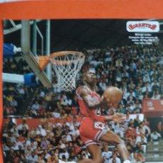 Coleccionismo deportivo: DOBLE POSTER MICHAEL JORDAN. CONCURSO DE MATES 1987. JOSH SMITH 2005. Lote 177457658