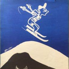 Coleccionismo deportivo: CARTEL XIX CAMPEONATO DE ESQUÍ LA MOLINA, COLEGIO VIRGEN DE LAS NIEVES AÑO 1979. Lote 178582363