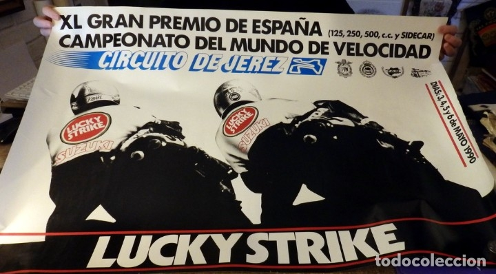 JEREZ DE LA FRONTERA, 1990, CARTEL ORIGINAL CAMPEONATO DEL MUNDO DE VELOCIDAD,MOTOS,96X68 CMS (Coleccionismo Deportivo - Carteles otros Deportes)
