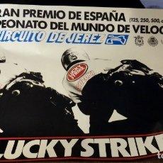 Coleccionismo deportivo: JEREZ DE LA FRONTERA, 1990, CARTEL ORIGINAL CAMPEONATO DEL MUNDO DE VELOCIDAD,MOTOS,96X68 CMS. Lote 178655818
