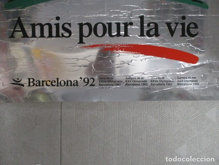 Coleccionismo deportivo: CARTEL / POSTER - BARCELONA 92 - COBI - MARISCAL - JEUX OLYMPIQUES - MEDIDAS 81 X 60 - METALIZADO - Foto 3 - 178659400