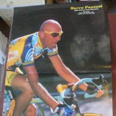 Coleccionismo deportivo: POSTER PANTANI GIRO Y TOUR 1998 / MERCATONE - 45 X 30 CMS - ENVIO GRATIS. Lote 178686098