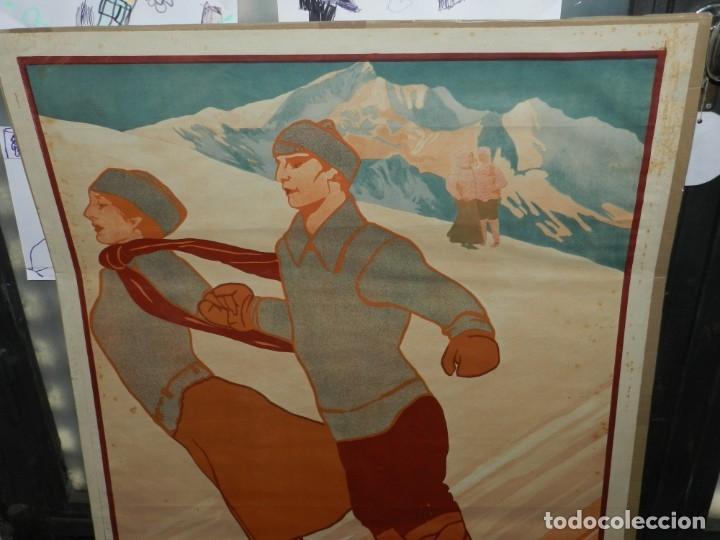 Coleccionismo deportivo: (M) CARTEL ORIGINAL CENTRE EXCURSIONISTA DE CATALUNYA SPORTS DHIVERN A RIBAS 1911 - Foto 2 - 178880472