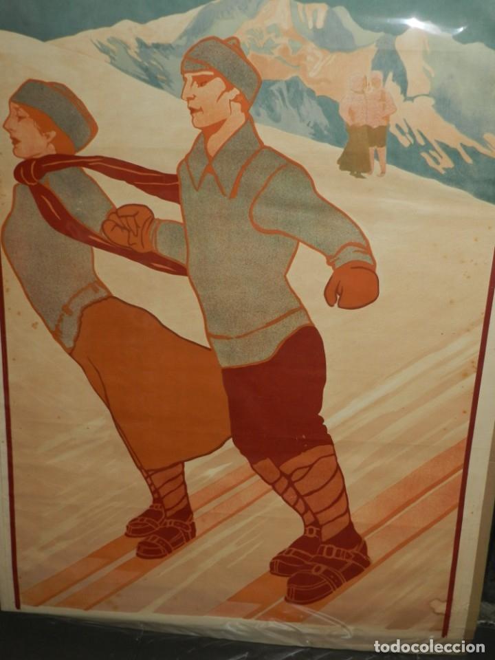 Coleccionismo deportivo: (M) CARTEL ORIGINAL CENTRE EXCURSIONISTA DE CATALUNYA SPORTS DHIVERN A RIBAS 1911 - Foto 3 - 178880472