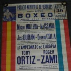 Coleccionismo deportivo: (M) CARTEL DE BOXEO - GRAN GALA INTERNACIONAL MIGUEL MOLLEDA - ALI ISSAKUITONY ORTIZ - ROGER ZAMI. Lote 179176867