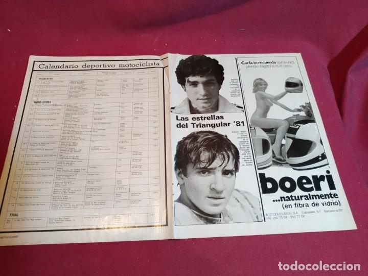 Coleccionismo deportivo: Poster revista Motociclismo 1981 - Foto 4 - 179225517