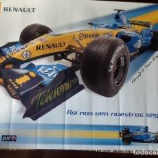 Coleccionismo deportivo: POSTER RENAULT FORMULA 1 TEAM R26 ORIGINAL RENAULT.. Lote 179247341