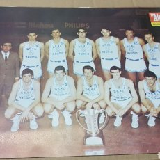 Coleccionismo deportivo: ANTIGUO PÓSTER REAL MADRID BALONCESTO CAMPEÓN DE EUROPA 1967. Lote 179954848