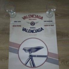 Coleccionismo deportivo: CARTEL MEMORIAL VALENCIAGA CICLISMO EIBAR . Lote 180120107
