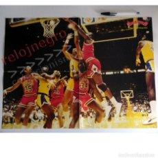 Coleccionismo deportivo: PÓSTER MICHAEL JORDAN ( CHICAGO BULLS ) - DE REVISTA GIGANTES - JUGADOR BALONCESTO ÍDOLO NBA BÁSQUET. Lote 180874001