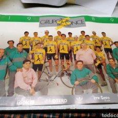 Coleccionismo deportivo: EQUIPO CICLISTA ONCE 1989. Lote 180894861