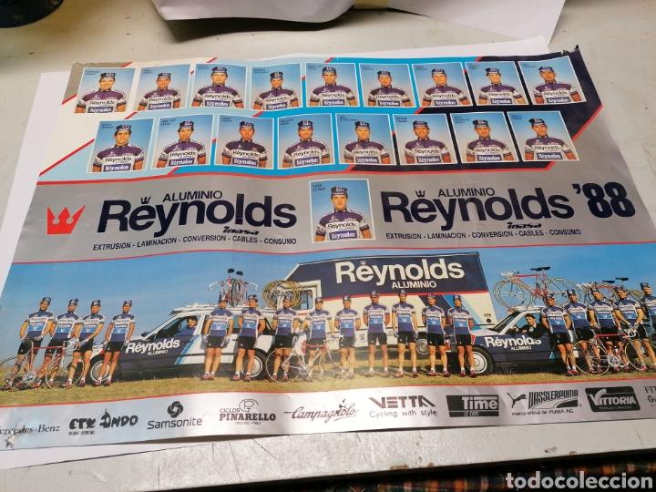 , EQUIPO CICLISTA REYNOLDS 1988 (Coleccionismo Deportivo - Carteles otros Deportes)