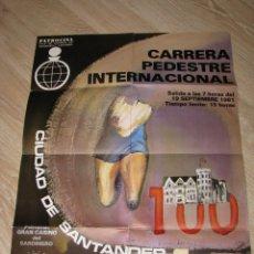 Coleccionismo deportivo: CARTEL CARRERA PEDESTRE INTERNACIONAL SANTANDER 1981. 59X42 CM.. Lote 182016895