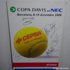 Coleccionismo deportivo: CARTEL CEPSA.COPA DAVIS 2000 BARCELONA.CORRETJA,COSTA,DUARTE,FERRERO,BALCELLS.GANAMOS AUSTRALIA 3-1.. Lote 182330016