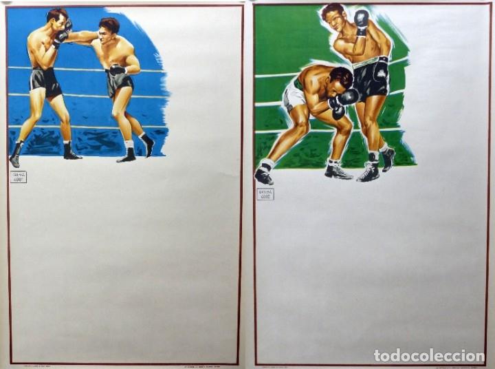 2 BONITOS CARTELES DE BOXEO SIN IMPRIMIR - AÑO 1963 (Coleccionismo Deportivo - Carteles otros Deportes)