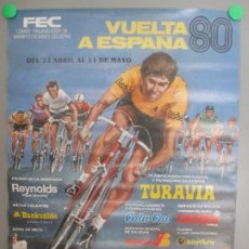 Coleccionismo deportivo: CARTEL VUELTA CICLISTA 1980 CICLISMO VUELTA A ESPAÑA 80 GRAN PREMIO LOIS MIDE APROX. 48,5 X 67,5 CM. Lote 183717557