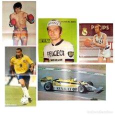 Coleccionismo deportivo: LOTE 5 POSTER ALAIN PROST FORMULA 1, EMILIANO, RONALDO, DURAN, THEVENET. Lote 36310909
