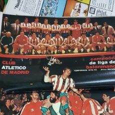 Coleccionismo deportivo: POSTER CAMPEON LIGA BALONMANO ATLÉTICO DE MADRID 78-79. Lote 185770756