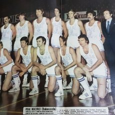 Coleccionismo deportivo: POSTER REAL MADRID BALONCESTO 76-77. Lote 185770877