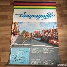 Coleccionismo deportivo: CARTEL CAMPAGNOLO CICLISMO CAMPEONATO DEL MUNDO. CICLISTA JAN RAAS. 1979. TI RALEIGH- MC GREGOR. Lote 185977723