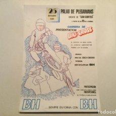 Coleccionismo deportivo: CARTEL CARRERA DE BICI-CROSS INAGURACIO CIRCUIT SASTRE. BH BICICLETA 1981. Lote 185985585